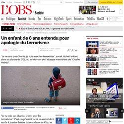 Un enfant de 8 ans entendu pour apologie du terrorisme - L'Obs