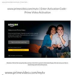Enter Activation Code - Prime Video Activation