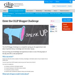 Enter the CILIP Blogger Challenge