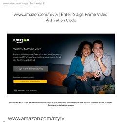 Enter 6 digit Prime Video Activation Code