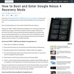 Nexus 4 stock recovery options