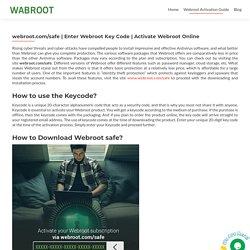 Activate Webroot Online