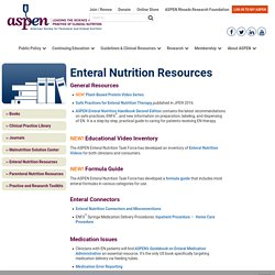 Enteral Nutrition Resources