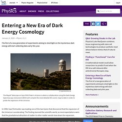 Entering a New Era of Dark Energy Cosmology