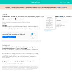 Institut National des Sciences et Technologies de la M er (INSTM ), Tunis 01/2005; Recherche par «RT-PCR» des virus enteriques chez des moules (< Mytilus galloprovincialis>) et des palourdes (< Ruditapes decussatus>)