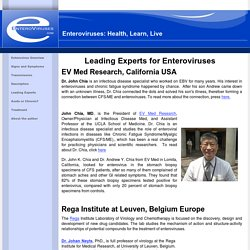 Enteroviruses: Health, Learn, Live