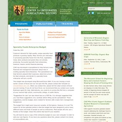 Center for Integrated Agricultural Systems
