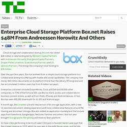 Enterprise Cloud Storage Platform Box.net Raises $48M From Andreessen Horowitz And Others
