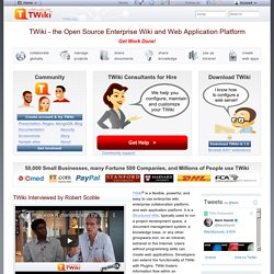 TWiki - the Open Source Enterprise Wiki and Web 2.0 Application Platform