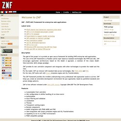 ZNF - PHP5 MVC framework for enterprise web applications