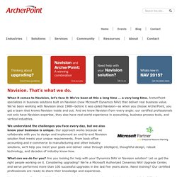 ERP Accounting Software Provided by ArcherPoint