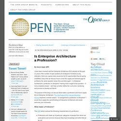 Is Enterprise Architecture a Profession?