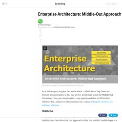 Enterprise Architecture: Middle-Out Approach