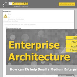 Enterprise Architecture and Small Businesses - Enterprise Architecture Modeling Tools - EAComposer