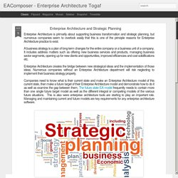 EAComposer - Enterprise Architecture Togaf: Enterprise Architecture and Strategic Planning