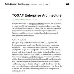 TOGAF Enterprise Architecture. Every business needs an enterprise…