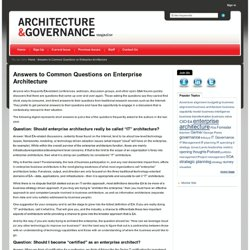 Architecture and Governance – Strategic IT Planning and Enterprise Architecture