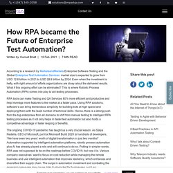 How RPA became the Future of Enterprise Test Automation? - ImpactQA