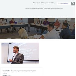 Enterprise Change Management Boot Camp
