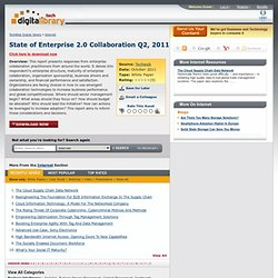 State of Enterprise 2.0 Collaboration Q2, 2011­­ - The BrainYard - InformationWeek