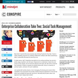 Enterprise Collaboration Take Two: Social Task Management