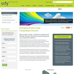 Private Enterprise Cloud Storage & Computing Service Providers - Cloud Sify