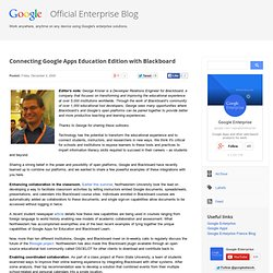 Connecting Google Apps Education Edition with Blackboard