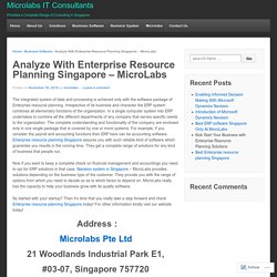 Enterprise Resource Planning Singapore