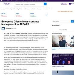 Enterprise Clients Move Contract Management to AI SAAS