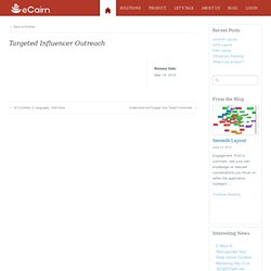 Social media targeting software for large enterprise, eCairn Conversation(tm)