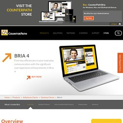 Bria SIP Softphone (Windows PC & Mac): Enterprise VoIP Software Client