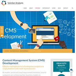Enterprise Content Management System (CMS) Development Company India, USA