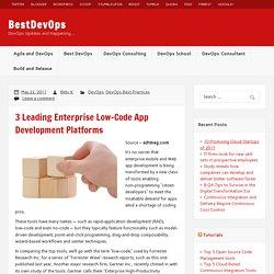 3 Leading Enterprise Low-Code App Development Platforms – BestDevOps