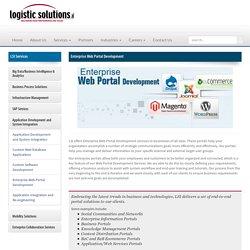 Enterprise web portal development service