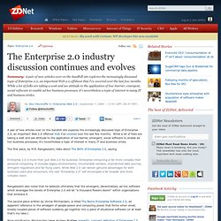 » The Enterprise 2.0 industry discussion continues and evolves