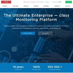 Homepage of Zabbix :: An Enterprise-Class Open Source Distributed Monitoring Solution