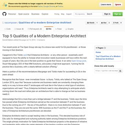 Top 5 Qualities of a Modern Enterprise Architect · eacomposer/Qualities-of-a-modern-Enterprise-Architect Wiki
