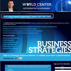 Business Stategies - can help you enhance your enterprise's effectiveness