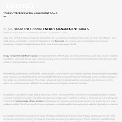 Your Enterprise Energy Management Goals