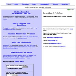 Search Tools - Enterprise Search Engines - Information, Guides and News