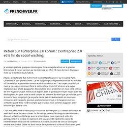Retour sur l'Enterprise 2.0 Forum : L'entreprise 2.0 et la fin d