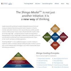 The Shingo Model - Shingo Institute - Leading a New Era of Enterprise Excellence