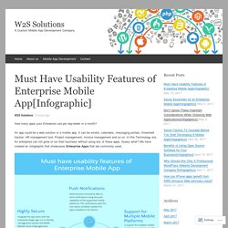 Must Have Usability Features of Enterprise Mobile App[Infographic]