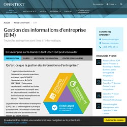 Enterprise Information Management EIM