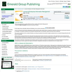 Journal of Enterprise Information Management information