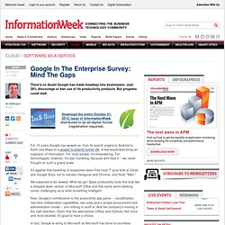 Google In The Enterprise Survey: Mind The Gaps - Internet - Google -