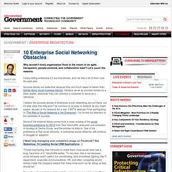 10 Enterprise Social Networking Obstacles - The BrainYard - InformationWeek