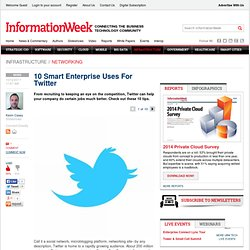 10 Smart Enterprise Uses For Twitter - The BrainYard