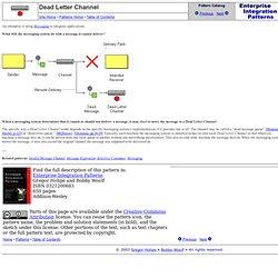 Enterprise Integration Patterns - Dead Letter Channel