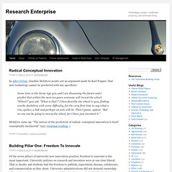 Research Enterprise | Technology transfer, intellectual property, and cockroach living